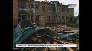Больше 30 деревьев повалило в Чувашии из-за грозы и сильного ветра