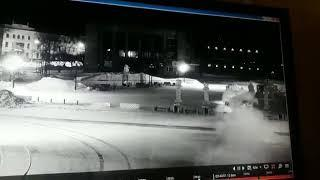 Toyota Windom влетел в остановку на площади ЗЛК в Комсомольске