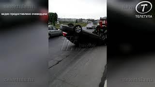 В ДТП на Рязанской улице в Туле опрокинулась иномарка