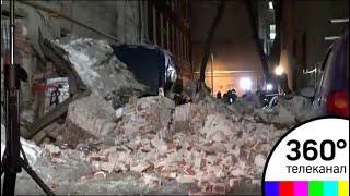 В результате обрушения здания в центре Москвы никто не пострадал