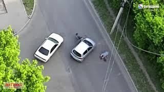 Бийск. Мото ДТП на перекрестке  Матросова - Пугачева 18.06.2018