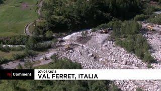 Эвакуация из долины Валь-Ферре
