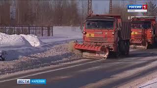 Снегоуборочная техника будет работать на улицах Петрозаводска всю ночь