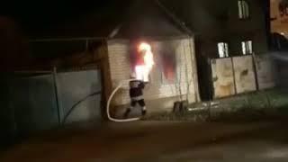 На улице Кирпичных Заводов в Будённовске горел частный дом