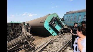 В Казахстане сошёл с рельс пассажирский поезд Астана - Алматы 17.06.2018
