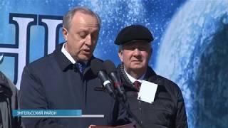 В Саратовской области на месте приземления Гагарина прошёл митинг