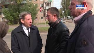 Ход подключения тепла в Костроме проверил замглавы горадминистрации Марк Красильщик