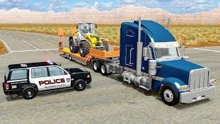 Гиблый перекресток BeamNG Аварии на пересечении дорог Сокрушительное столкновение машин ДТП