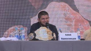 UTV. Чемпион UFC Хабиб Нурмагомедов заявил в Уфе, что готов к бою с Конором Макгрегором