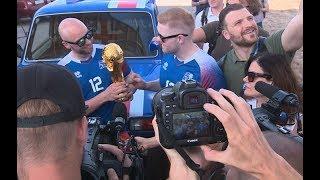 Исландские болельщики приехали в Волгоград на «Ниве»