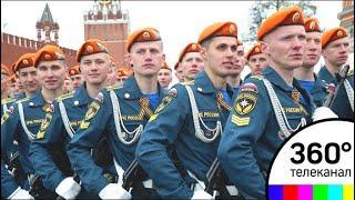Курсанты Академии МЧС готовятся к своему первому Параду на Красной площади