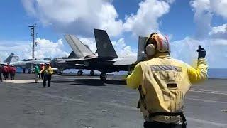 Новейший американский истребитель F-35 потерпел крушение…