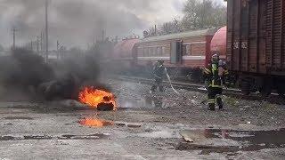 В Пензе спасли пострадавших в ЧП с поездом — учения