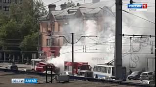 Стало известно, почему в Барнауле на ходу загорелся пассажирский автобус