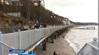 В Светлогорске закрыли спуск на пляж