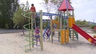 Новая детская площадка в Шацке