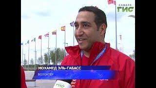 Над стадионом Самара-Арена теперь развиваются флаги всех стран-участниц Чемпионата мира по футболу