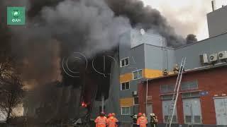 Названа возможная причина пожара в гипермаркете «Лента» в Петербурге