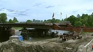 В Ярославле завершается надвижка последнего пролёта моста через Которосль