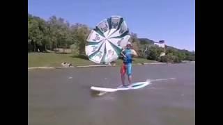 Серфенгист на Комсомольском озере попал на видео