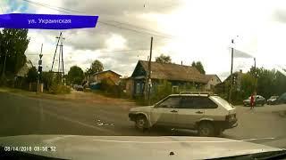 Видеорегистратор  ДТП Рено в фургон на Щорса  Место происшествия 15 08 2018
