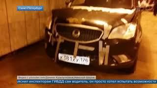 Водитель внедорожника въехал в подземный переход метро в Санкт-Петербурге