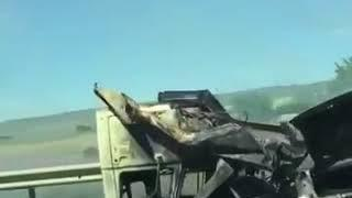 Авария с пожаром на трассе