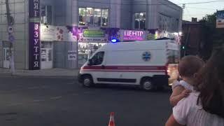 ДТП с полицией в Мариуполе, есть пострадавший