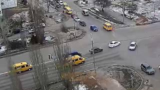 ДТП (авария г. Волжский) ул. Карбышева ул. 40 лет Победы 13-02-2018 08-09