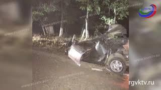 В Дагестане автомобиль врезался в дерево. Водитель погиб