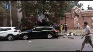 Авария на Буденновском/Варфоломеева в Ростове 08.09.2018