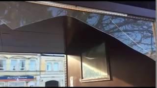 Вандалы в Рыбинске разгромили новую остановку