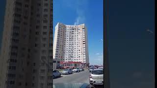 В высотке на Антонова горит квартира
