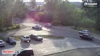 ДТП Бийск на перекрестке ул. Докучаева - Прибыткова 24.06.2018