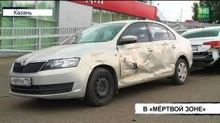 КАМАЗ столкнулся с автомобилем Skoda Octavia на Проспекте Победы в Казани | ТНВ