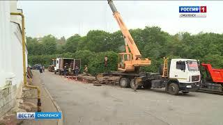 Дорогу к главному храму Смоленска закрыли на время ремонта