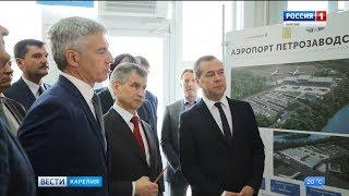Сегодня днем в республику прибыл председатель правительства России Дмитрий Медведев