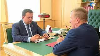 Болевые точки Мошенского района обсудили Андрей Никитин и глава муниципалитета Алексей Кондратьев