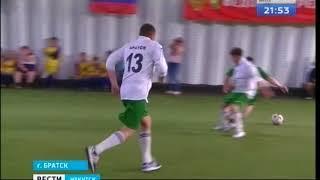 Футбольные финты и битвы за мяч  Депутаты из Братска сошлись в товарищеском матче