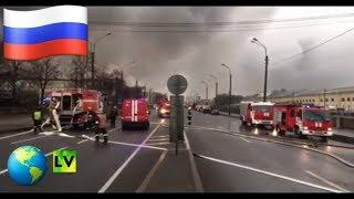 Санкт-Петербург.Сгорел гипермаркет
