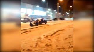 В Волгограде водитель наказан за буксировку ватрушки