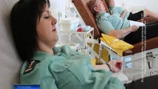 Судебные приставы сдали кровь для маленьких пациентов донских больниц