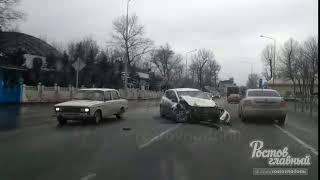 Авария на левом берегу возле ЖД моста 21.3.2018 Ростов-на-Дону Главный