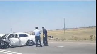 Серьезная авария на 5 километре от Донского в сторону Красногвардейского.