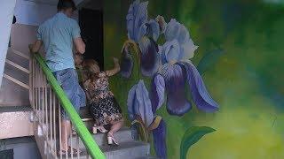 Семья художников превращает волгоградские подъезды в произведения искусства