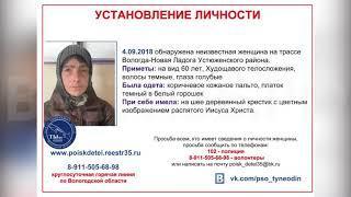 В Вологодской области устанавливают личность найденной на трассе женщины