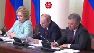 Путин пожаловался на свой почерк