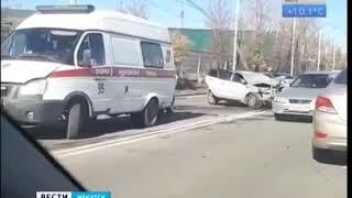 Двое детей и двое взрослых пострадали в ДТП в Иркутске