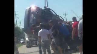 В Михайловске на трассе дважды перевернулся автомобиль