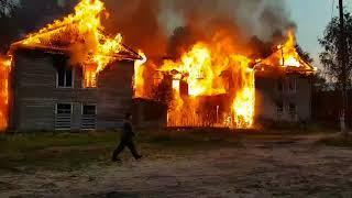 Пожар в Койгородском районе
